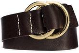 Michael Kors Double-Ring Leather Belt