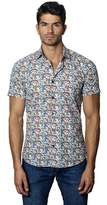 Jared Lang Mens Woven Short Sleeve Shirt.