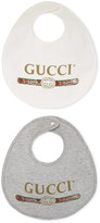 Gucci Baby logo cotton bib, set of two
