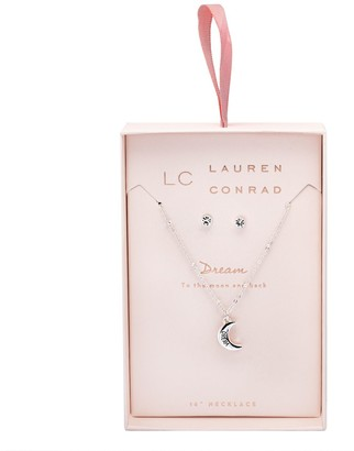 Lauren Conrad Silver Tone Nickel Free Necklace & Earrings Set