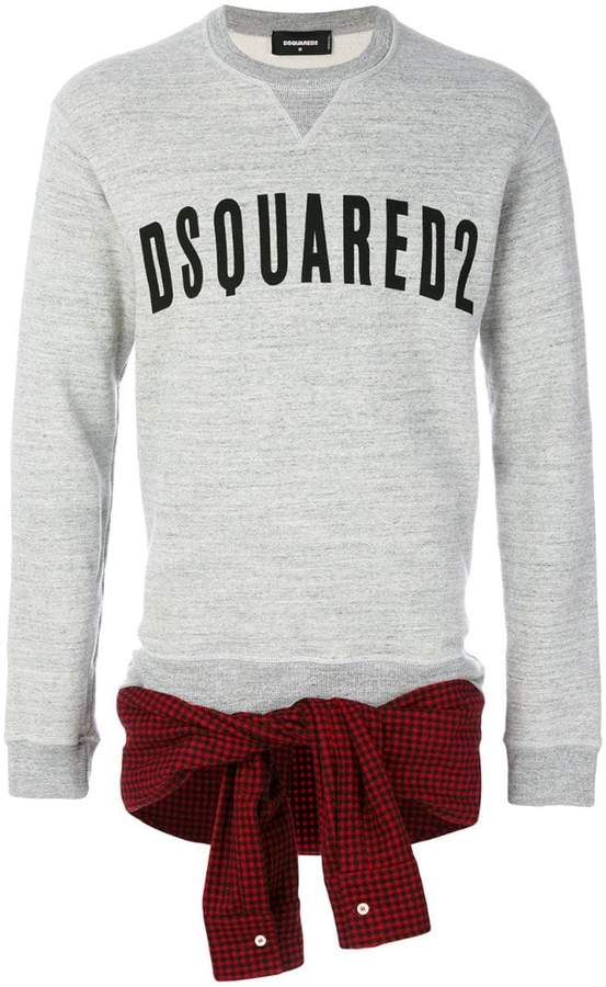 DSQUARED2 shirt tie-waist sweatshirt