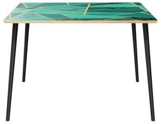 Wrought StudioTM Gullickson Dining Table Wrought Studio Top Color: Natural, Base Color: Black