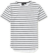 Armani Exchange Stripe Linen Short-Sleeve Tee