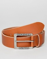 Tommy Hilfiger THD Leather Belt Brown
