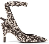 Tom Ford Printed calf hair pumps