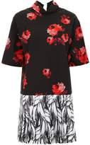 Prada Roses and Bananas Print Mini Dress