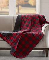 """Woolrich Reversible Plaid 50"""" x 70"""" Quilted Throw"""