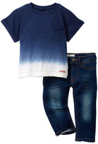 Hudson Ombre Top & Pant 2-Piece Set (Baby Boys)