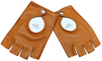 Hermã ̈S HermAs Camel Leather Gloves
