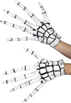 Sportsgear US Men's Halloween Fancy Dress Accessory Scary Grim Reaper Skeleton Gloves