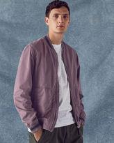 Ted Baker Striped trim cotton bomber jacket