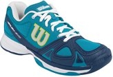 Wilson Women`s Rush Evo Tennis Shoes Light Ultramarine and Pacific Teal (6.5)