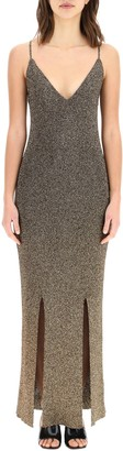 Ganni Glitter Knit Strap Dress