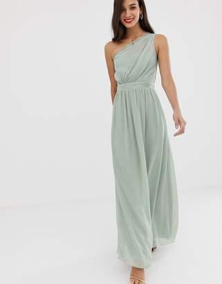Little Mistress one shoulder maxi dress