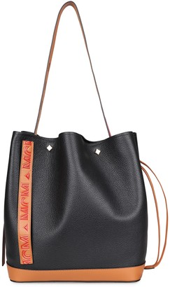 MCM Milano Leather Bucket Bag