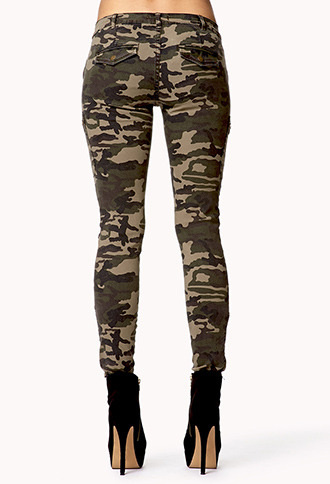Forever 21 Camo Skinny Jeans