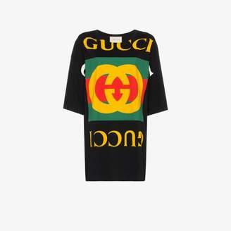 Gucci oversized logo cotton T-shirt
