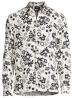 The Kooples Men's Long-Sleeve Floral-Print Shirt