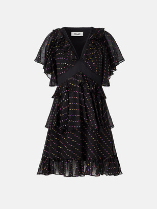 Diane von Furstenberg Danni Chiffon Mini Dress