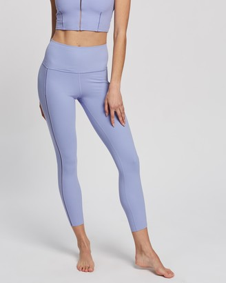 Nike Women's Blue Tights - Yoga Luxe Rib 7-8 Tights - Size XL at The Iconic