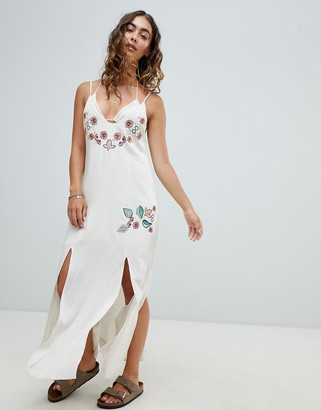 Somedays Lovin Still Light Embroidered Beach Dress