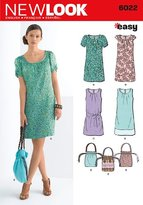 New Look A 6-8-10-12-14-16 Sewing Pattern 6022 Misses Dresses and Bag