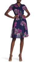 Nanette Lepore Nanette Short Sleeve Floral Dress