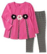 Kids Headquarters Little Girl's Two-Piece Printed Top and Pants Set