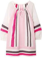 Lemlem Mimi Striped Cotton-blend Gauze Mini Dress - Baby pink