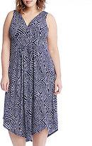 Karen Kane Plus Asymmetric Hem Dress