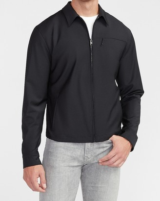 Express Black Nylon Trucker Jacket