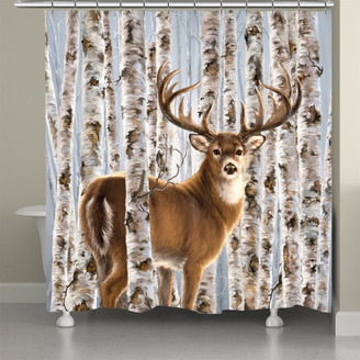 Laural Home Buck In Birches Shower Curtain