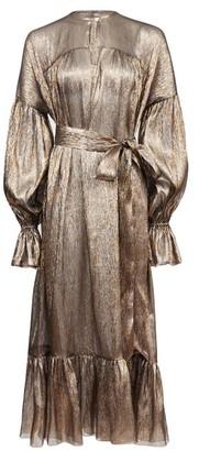The Vampire's Wife The Kaftan Silk-blend Lame Dress - Bronze