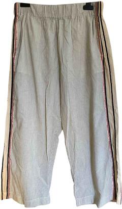 Forte Forte Beige Cotton Trousers