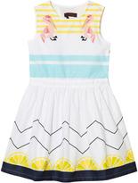 Catimini Lemon and Pelican Print Dress