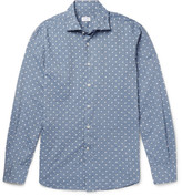 Incotex Slim-Fit Polka-Dot Slub Cotton Shirt