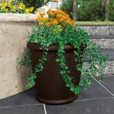 "Suncast Willow 22"" Resin Wicker Planter 2-piece Set"