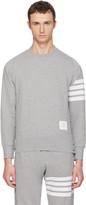 Thom Browne Grey Classic Four Bar Sweatshirt