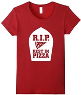 Junk Food Clothing Women's RIP Rest in Pizza Funny Graphic Food T-shirt XL