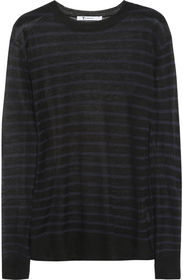 Alexander Wang Striped fine-knit sweater