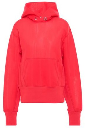 Helmut Lang Ribbed Knit-trimmed Scuba Hoodie