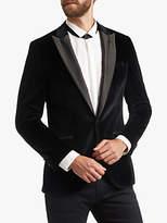 HUGO BOSS HUGO by Hugo Boss Velvet Contrast Peak Suit Jacket, Black