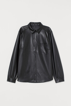 H&M Imitation leather shirt