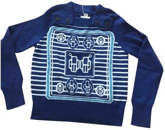 Hermã ̈S HermAs Blue Cashmere Knitwear