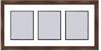 Frames By Mail Walnut Collage Picture Frame - 3 openings for 5X7 photos