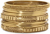 JCPenney Mixit 14-pc. Gold-Tone Bangle Bracelet Set