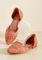 ModCloth Well-Stepped Flat in Coral in 7