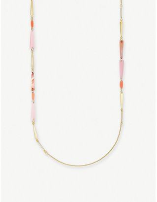 Kendra Scott Aylin 14ct gold-plated and mother-of-pearl long necklace