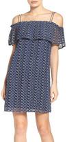 Greylin Print Off the Shoulder Knit Dress