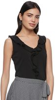 Elle Women's ELLETM Sleeveless Ruffle Top